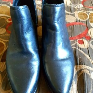 Steve Madden Womens Black Leather Boots size 8.5
